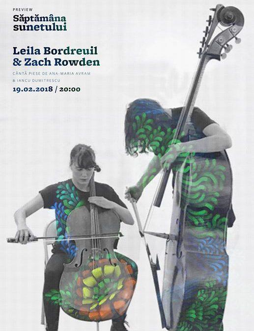 Săptămâna Sunetului preview: Bordreuil/Rowden ♫ Avram/Dumitrescu